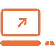 Icon of Computer Screen with Arrow